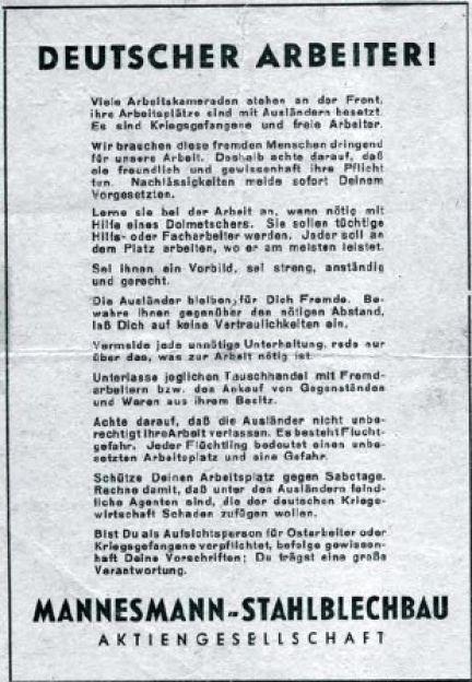 1944 B01 Mannesmannfremdarbeiter
