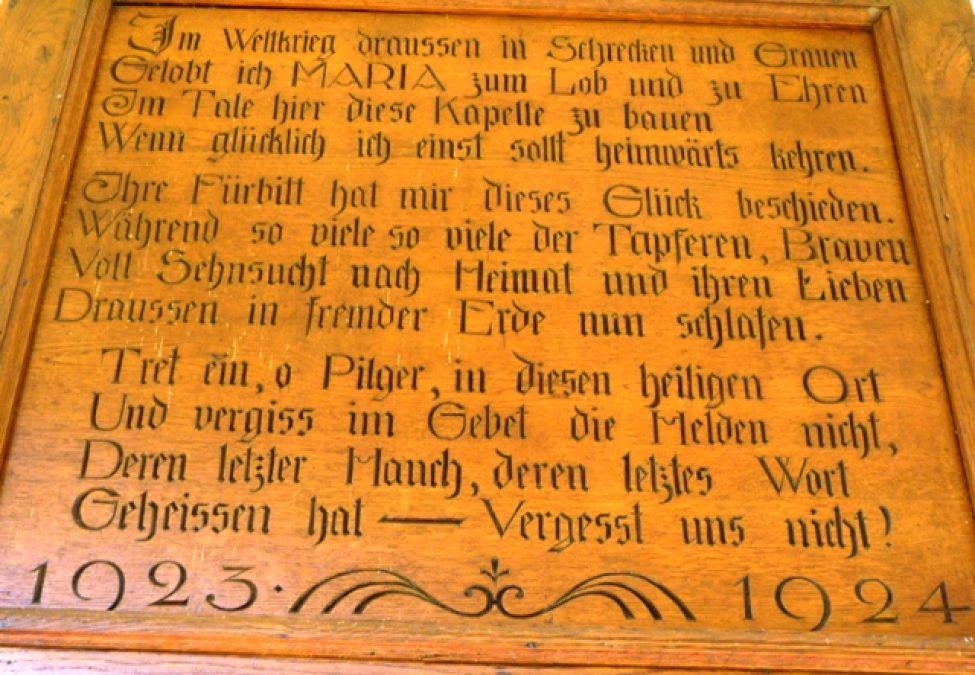 1924 25 B01 Votivtafelkapelle