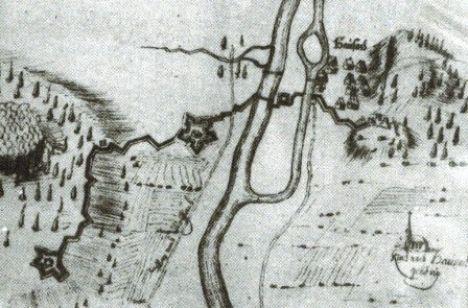 1622 Skizze Verschanzung Stadt1680