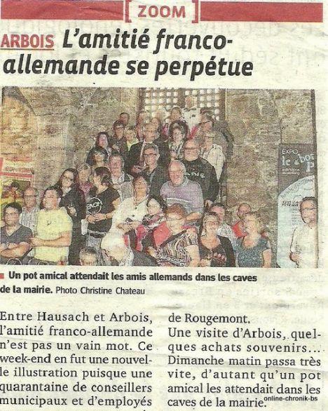 1974 A08 Article Le Progres 29sept2014 L Amitie Franco Allemande Se Perpetue