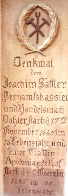 1822 02 Sattler Inschrift