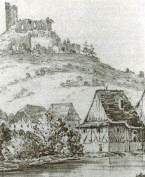 1643 Burg Als Steinbruch Repro Archiv Kurt Klein