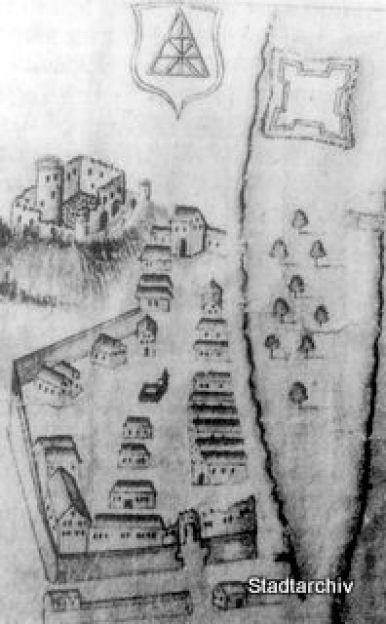 1613 Alt Hausach Zeichnung Von 1655