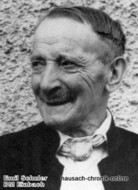 1921 A03 Einbach 1910 1938 Schuler Emil Buergermeister Einbach