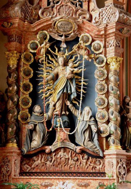 1646 Dorfkirche Rosenkranz Altar Heinz Kraft
