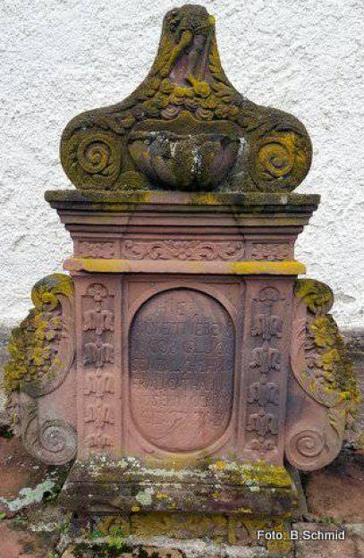 1648 Grabstein Ehepaarglück Dorfkirche