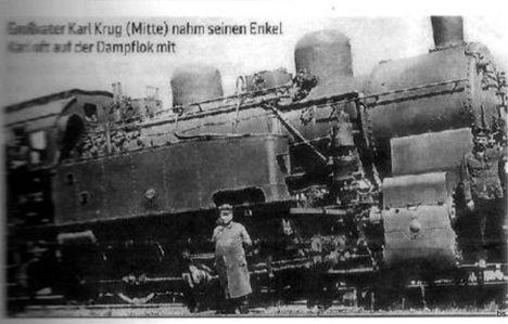 Eisenbahn Lokfuehrer Krug Dampflok