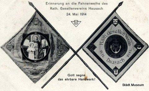 1911 03 Fahnenweihekath.gesellenvereinhausach 1914 05 24